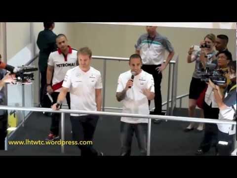 Lewis Hamilton and Nico Rosberg in Malaysia
