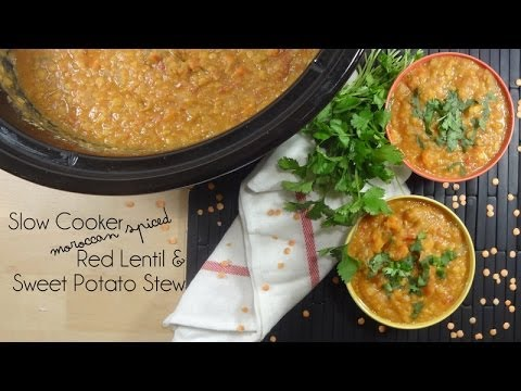 Slow Cooker Moroccan Spiced Red Lentil And Sweet Potato Stew Recipe