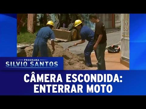 Enterrar Moto   Câmeras Escondidas (19/02/17)