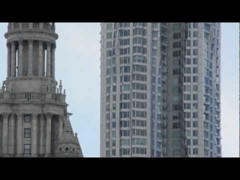 View of Tower at 8 Spruce Street (silent movie)