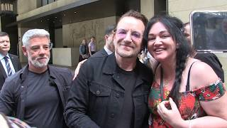 'U2 front man BONO up close & personal with fans in Sydney' #15MOF