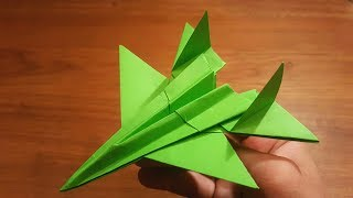 How To Make a Paper F-14 Tomcat FIGHTER JET | Origami Airplane