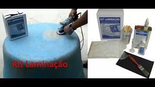 Reparo com fibra de vidro e resina - Kit Laminação