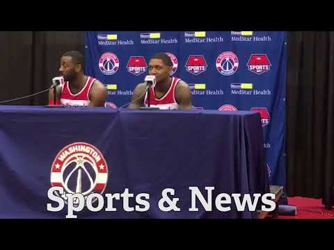 WIZARDS John Wall talks past BEEF w  Bradley Beal & hoping he makes 1st AllStar this year!!!