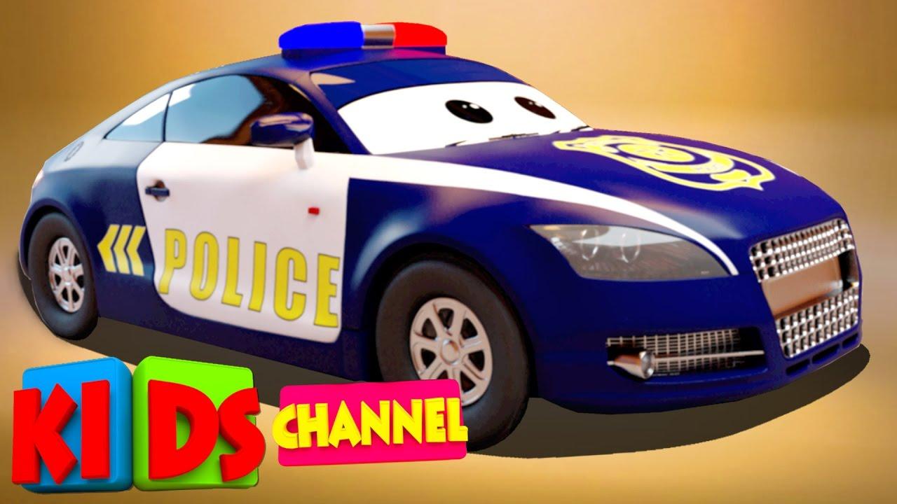 3d car garage police car toy car factory