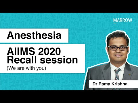 Anaesthesia AIIMS 2020 Recall session (We are with you)