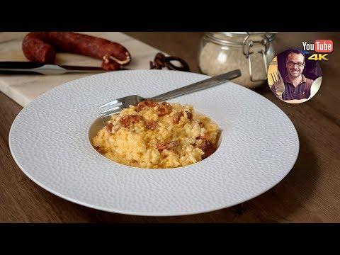 risotto-crémeux-chorizo-/-mascarpone-|-repas-facile-et-rapide