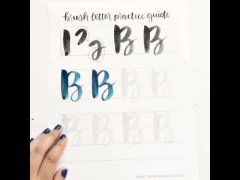 Brush lettering uppercase b youtube