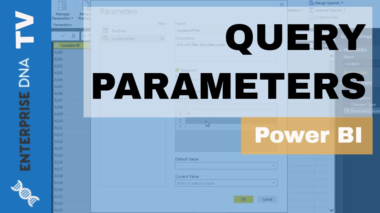Query Parameter Example in Power BI - Query Editor Tutorial