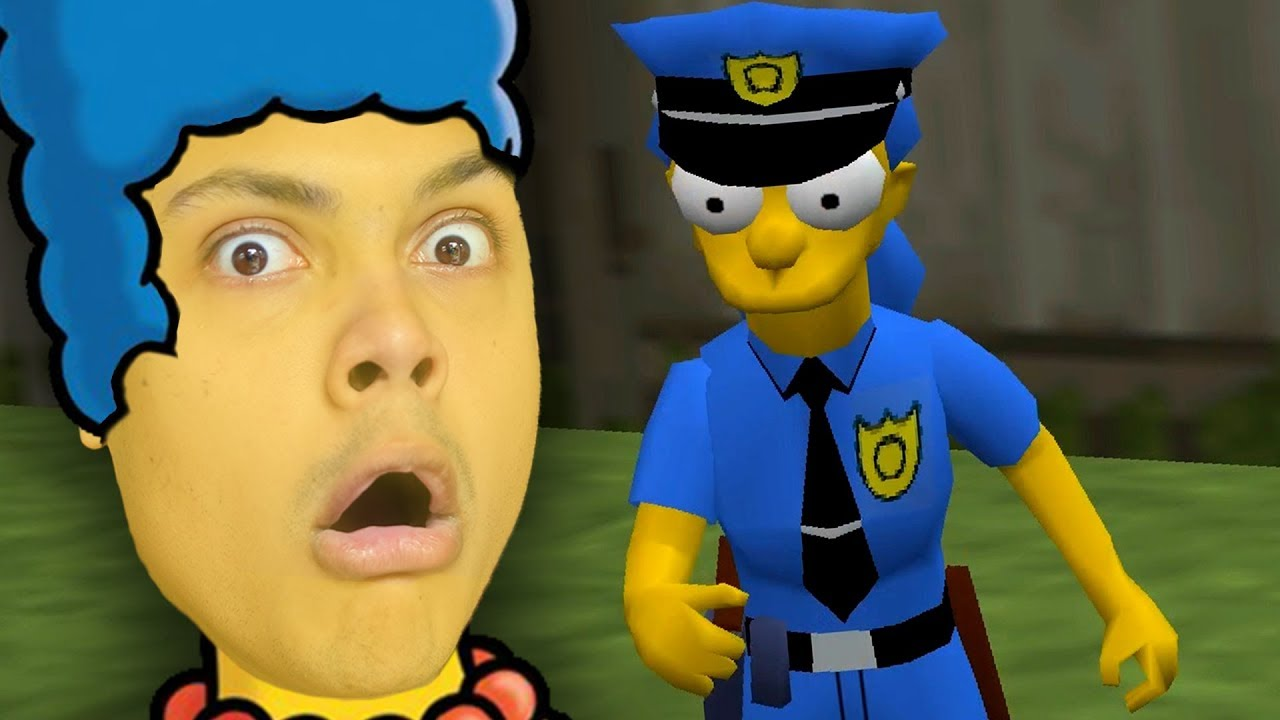 Marge simpson joins the police simpsons hit and run doovi - Police simpsons ...
