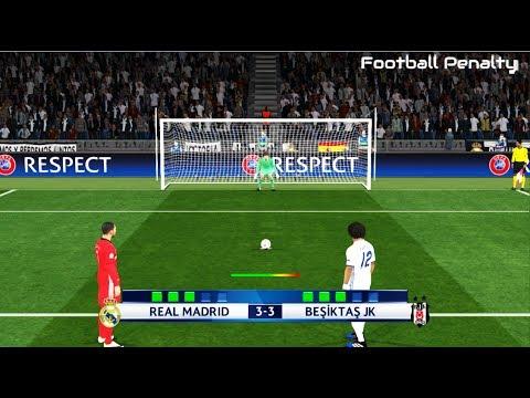 Real Madrid vs Besiktas | Longest Penalty Shootout | PES 2017 Gameplay