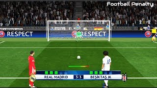 PES 2017 | Real Madrid vs Besiktas | Longest Penalty Shootout |  Gameplay PC