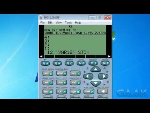 HP calculators: Hidden vars on 49 series - Gaak