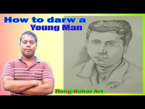 how-to-draw-a-young-man-face-step-by-step-|-rong-bahar-art