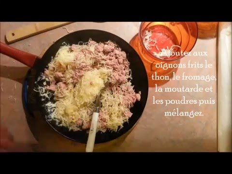 feuilleté-au-thon-et-fromage- -recette