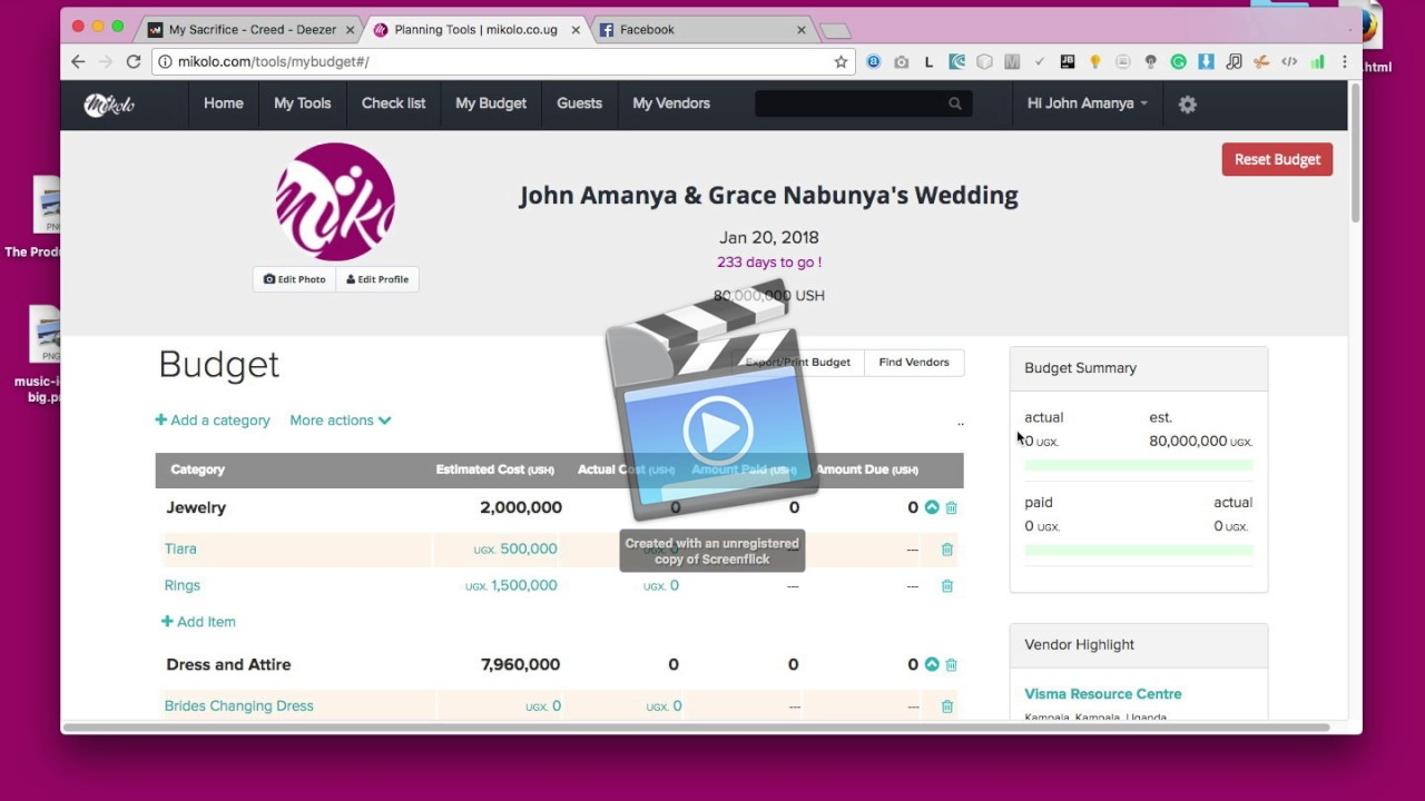 how to use free mikolo wedding budget tool uganda weddings youtube