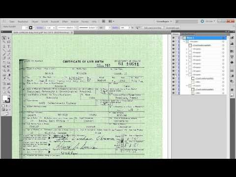 "Obama Birth Certificate - Explanation + reproduction of so-called ""Tampering"". (Layers, PDF)"