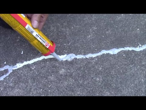 how to fix small cracks in concrete driveway