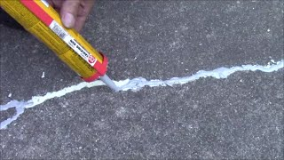 Repair Cement Crack in Driveway, Fix Patio to Protect From Water, Sun, UV Rays