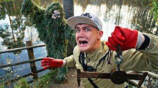Мы отправились на магнитную рыбалку но на нас напал лесной монстр