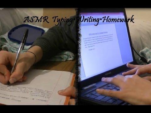 ♥ASMR♥ Typing•Writing•Homework