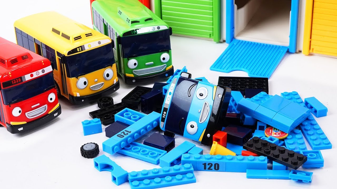 Download Tayo the Little Bus Friends Toys - Rogi Lani and Gani Build & Play with Tayo block Building!
