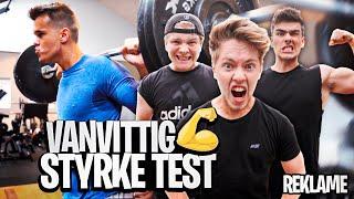 VANVITTIG STYRKE TEST MED GUTTERNE!