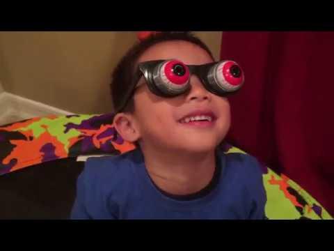 toddler wearing crazy googly eyes glasses youtube