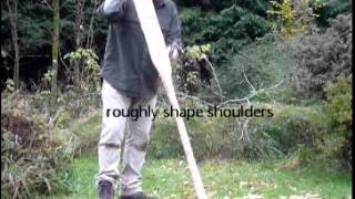 Making a canoe paddle an axe and knife