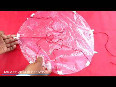 How to make a Parachute From plastic Bag || Toy Parachute || School project at home