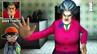 Scary Teacher 3d - Злой Учитель Пранк от ученика - летсплей прохождение игры Часть 1 андроид, айос