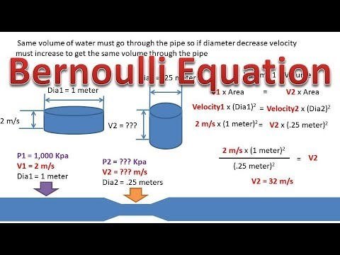 Bernoulli Equation (Find Pressure and Velocity in Pipe After Reduction In  Size)