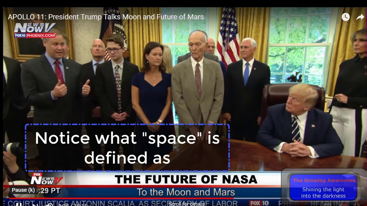 The Growing Awareness Trumps news confrence on the moon and space ... what's going on