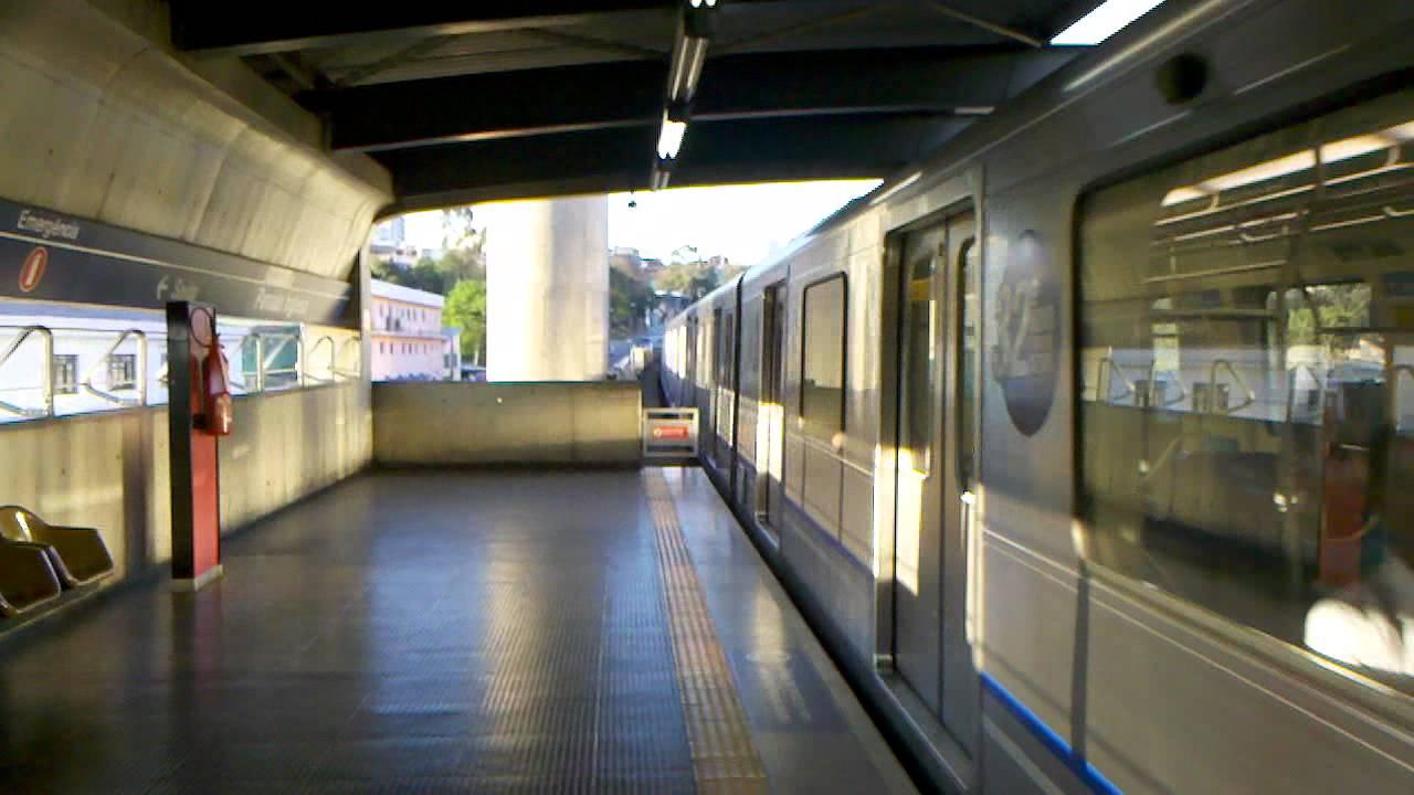f79f6a77c6cef Metrô de São Paulo - Linha 1 Azul - CAF H58 alinhando na Estação Parada  Inglesa (HD)