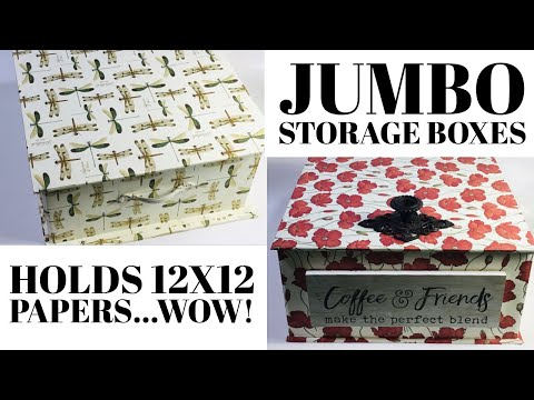 12x12 Paper Storage Box Make These