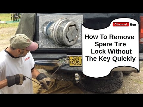 How To Remove Spare Tire Lock Without The Key Quickly