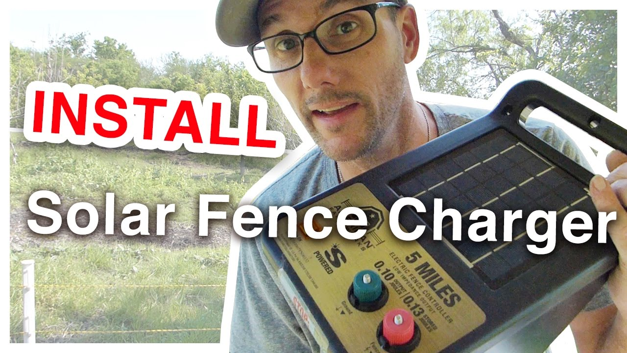 How To Install A Solar Charged Electric Fence Youtube Single Wire Diagram