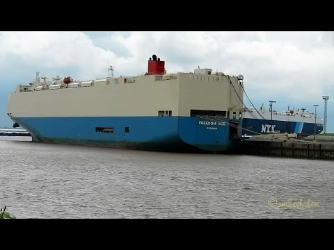 car carrier FREEDOM ACE H9BS IMO 9293662 Emden roro cargo seaship Autotransporter