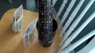New Woodpecker Feeder From Perky Pet - Filling It With Organic Nuts & Placing