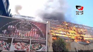حريق هائل بإحدى القرى السياحية بالغردقة