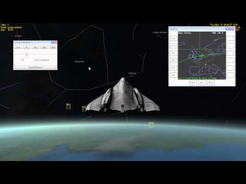 Moscow to Dublin suborbital flight 20 minutes in Orbiter Space Flight Simulator