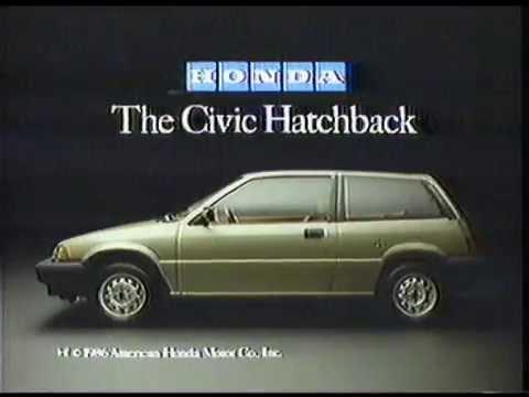1986 honda civic hatchback commercial youtube. Black Bedroom Furniture Sets. Home Design Ideas