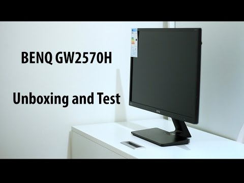 "23.8"" BENQ GW2470H Monitor Unboxing + Test"