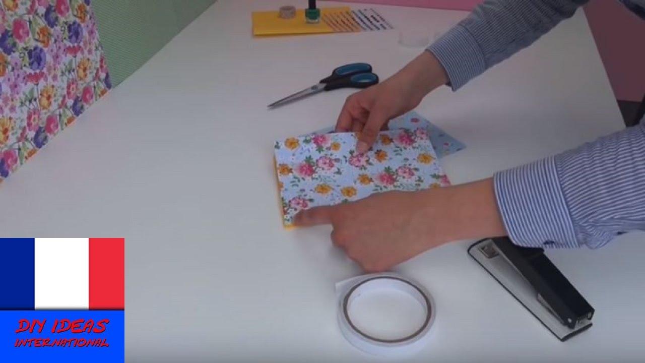 Bien-aimé DIY Cahier/ Journal/ Agenda à faire soi-même - YouTube HZ32
