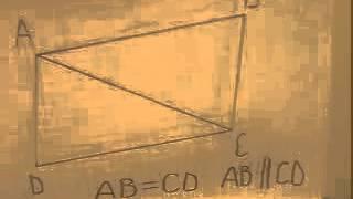 Доказательство первого признака параллелограмма