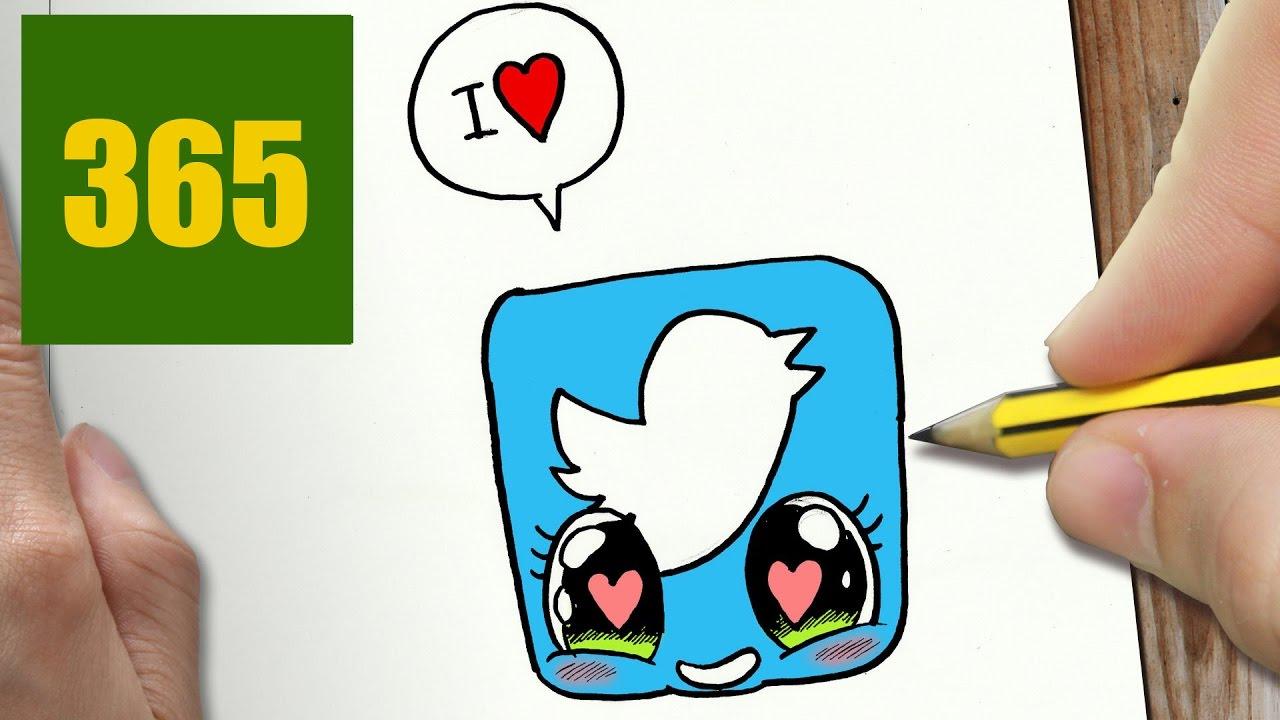 Comment Dessiner Twitter Amour Kawaii étape Par étape Dessins Kawaii Facile