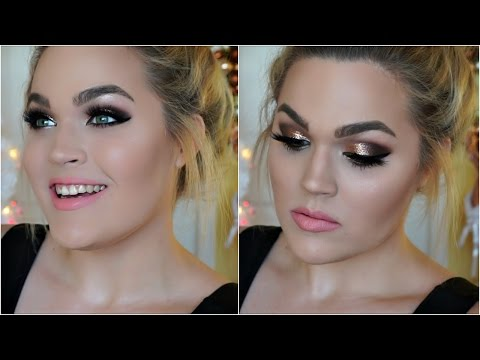 Glitter Bombshell Smokey Eye | New Year's Eve Makeup Tutorial