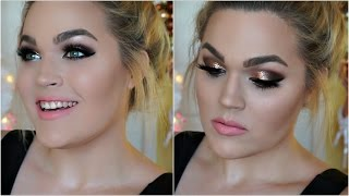 glitter bombshell smokey eye   new year s eve makeup tutorial