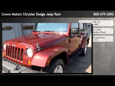 2007 jeep wrangler unlimited sahara wyoming youtube for Crown motors jeep holland