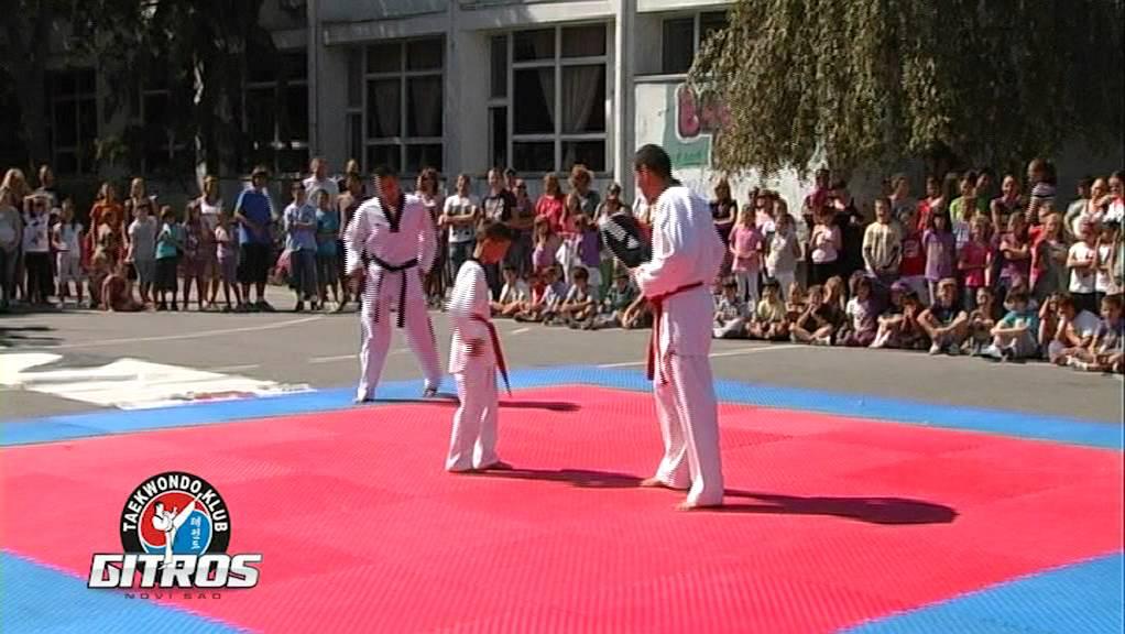 Tekvondo klub Gitros, Novi Sad - Demonstracija - YouTube